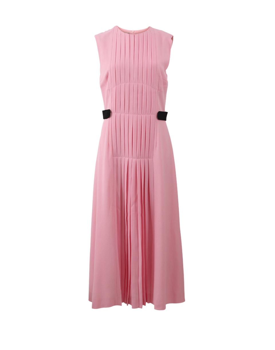 Emilia Wickstead Jolley Pleated Wool-crepe Dress In Pink
