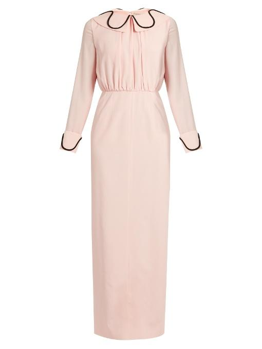 Emilia Wickstead Gia Crepe Midi Dresss In Light-pink