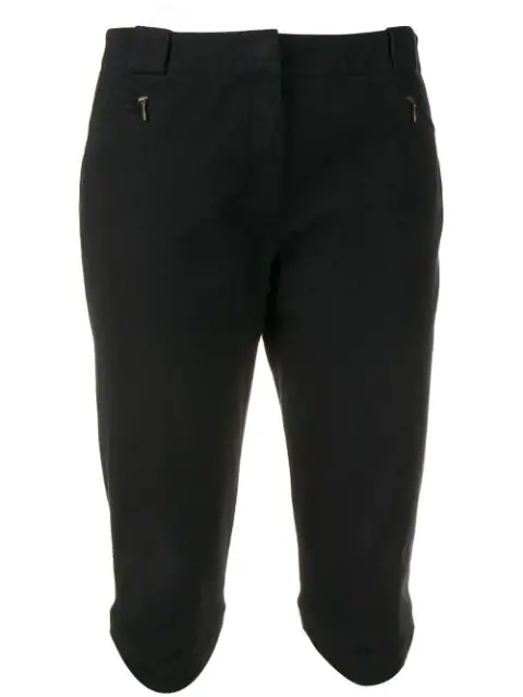 Givenchy 1990's Ruffled Knee-length Shorts In Black