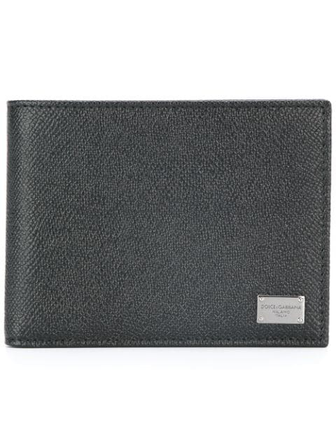 Dolce & Gabbana Dauphine Leather Classic Id Wallet, Black