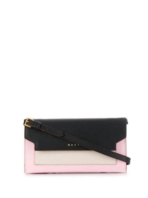 Marni Trunk Colourblock Crossbody Bag In Pink