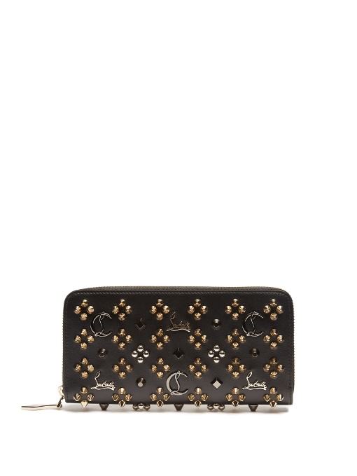 Christian Louboutin Panettone Zipped Continental Wallet In Black