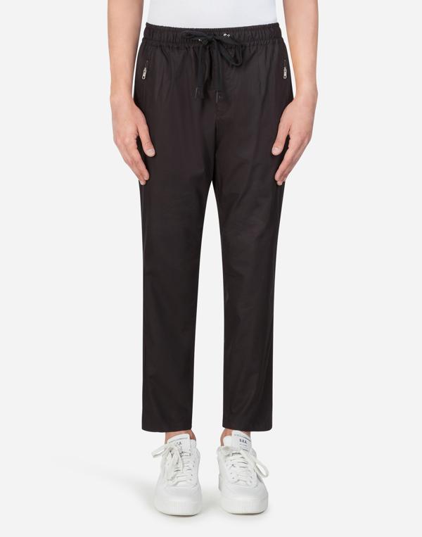 Dolce & Gabbana Cotton Jogging Pants In Nero