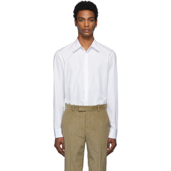 Maison Margiela Classic Cotton Shirt In 100 White