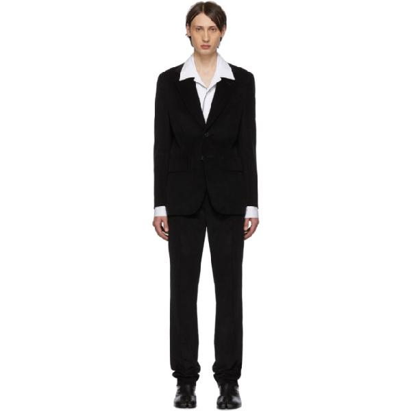 Maison Margiela Black Corduroy Classic Suit In 900 Black