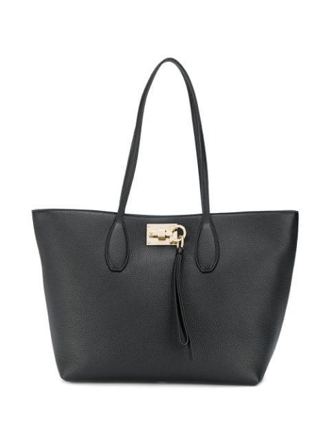 Salvatore Ferragamo Minimal Tote Bag In Black
