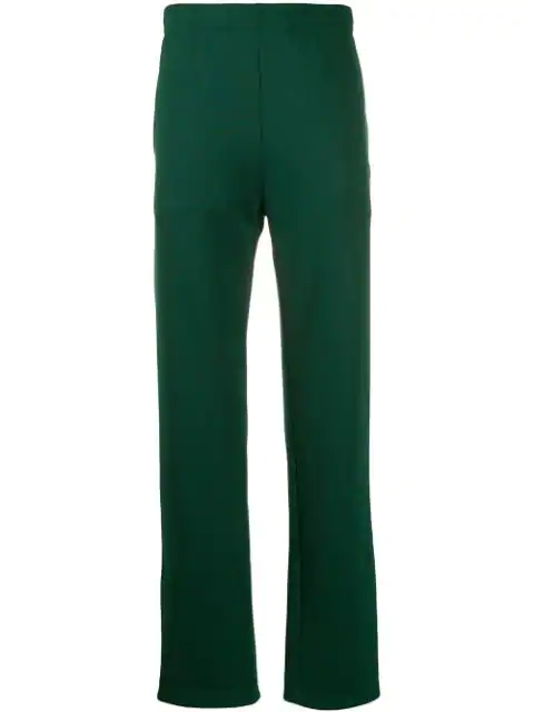 Acne Studios Face Cotton-blend Trackpants In Green