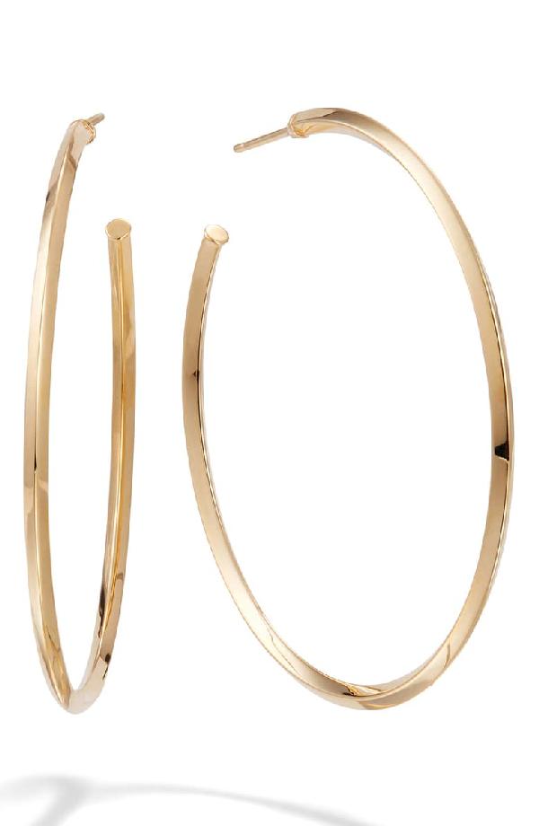 Lana Pointed Royale Hoop Earrings In Yellow Gold