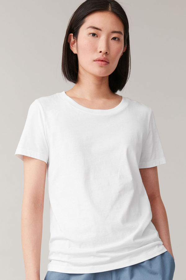 Cos Regular Fit T-shirt In White