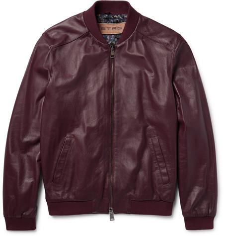Etro Nappa Leather Bomber Jacket