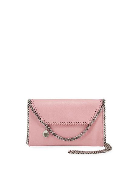 Stella Mccartney Mini Falabella Shaggy Deer Crossbody Bag In Light Pink