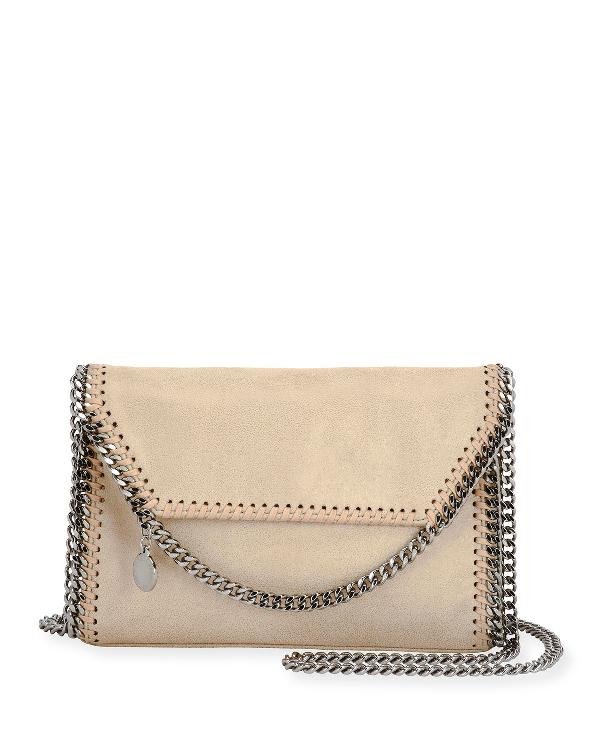 Stella Mccartney Mini Falabella Shaggy Deer Crossbody Bag In Medium Beige