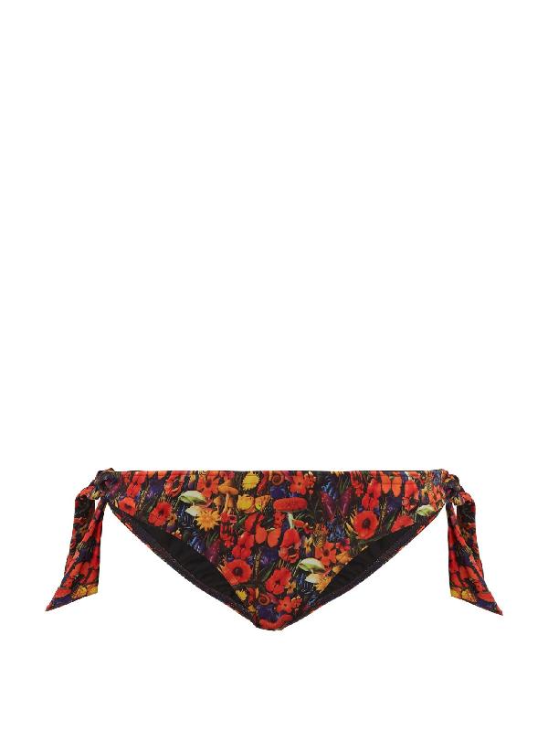 Muzungu Sisters Hazel Floral-print Bikini Briefs In Black Multi
