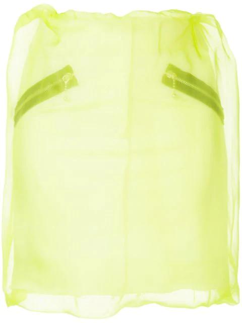 Yang Li Organza Layered Mini Skirt In Yellow