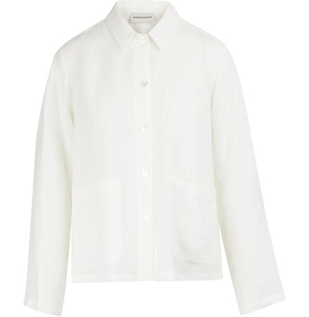 Mansur Gavriel Linen Worker Shirt In White