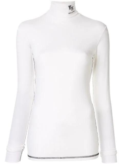 Yang Li Roll Neck Top In White