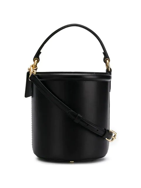Coach Drawstring Bucket Bag In Black Refined Calf Leather