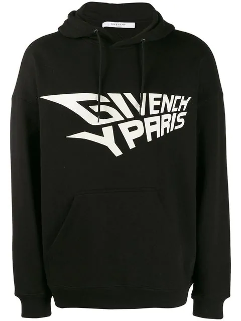 Givenchy Glow-In-The-Dark Logo-Print Loopback Cotton-Jersey Hoodie In 001 Black