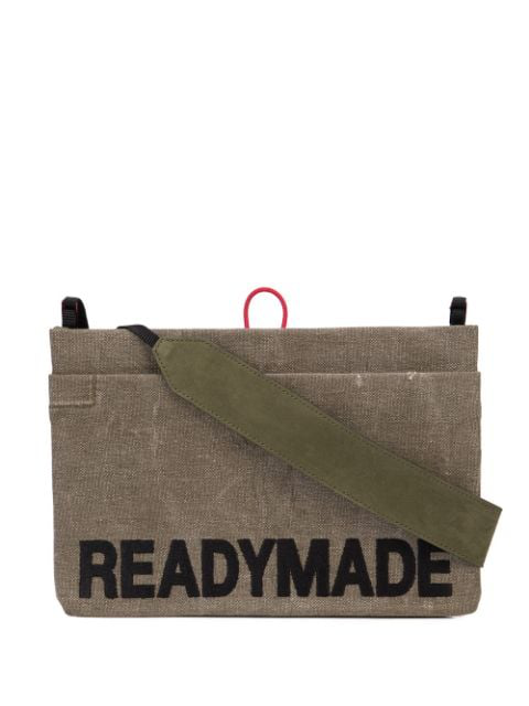 Readymade Logo Embroidered Shoulder Bag In Green