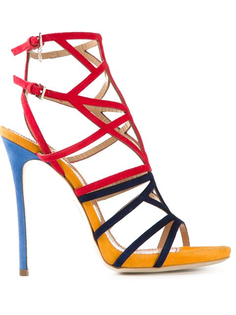 Dsquared2 150mm Ayers & Suede Platform Sandals In Red