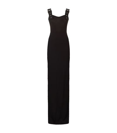Givenchy Buckle Strap Column Gown In Black