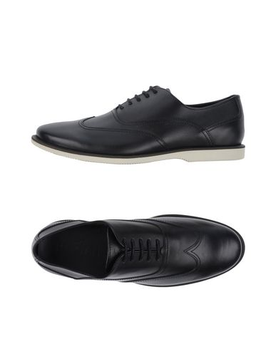Hogan Lace-up Shoes In Black