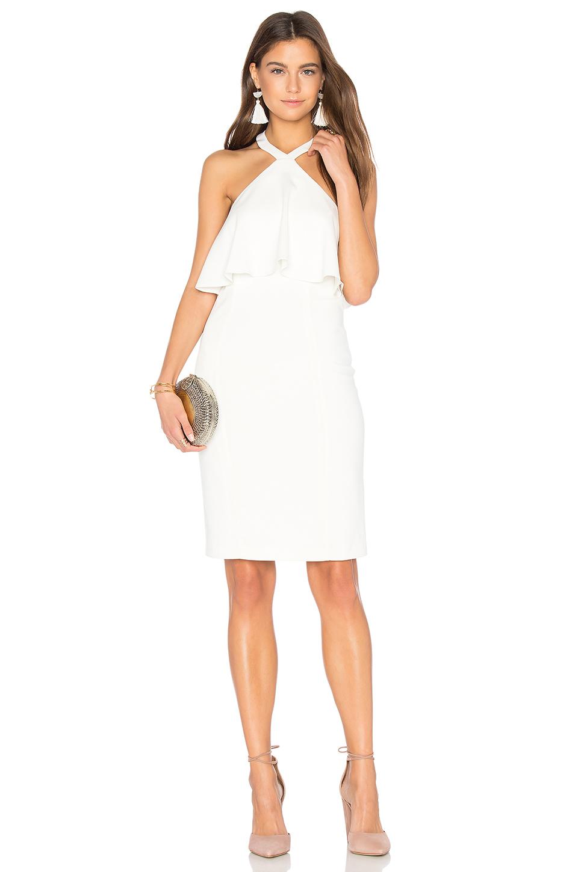 Amanda Uprichard Piazza Dress In Ivory