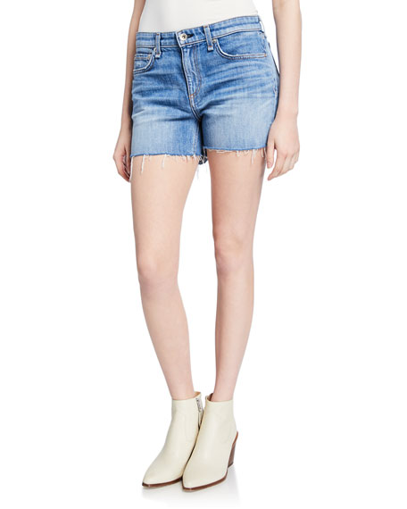 Rag & Bone Dre Low-rise Denim Cutoff Shorts In Dara