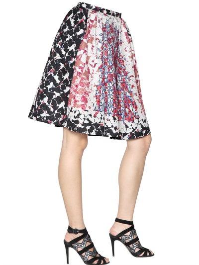 Peter Pilotto Emma Waffle Silk Skirt In Pink