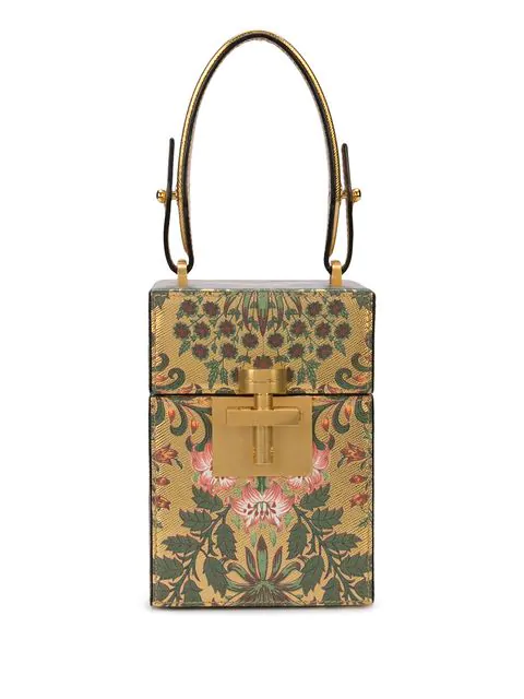 Oscar De La Renta Alibi Mini Box Bag In Gold