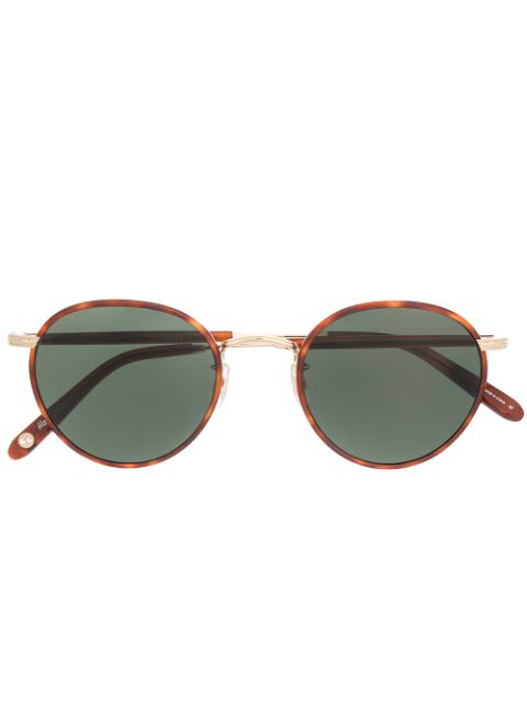 Garrett Leight Round Shape Sunglasses In Brown