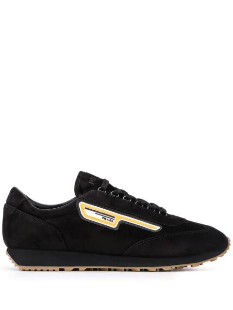 Prada Suede Running Sneakers/Scamosciato Milano 70 In F0002 Black
