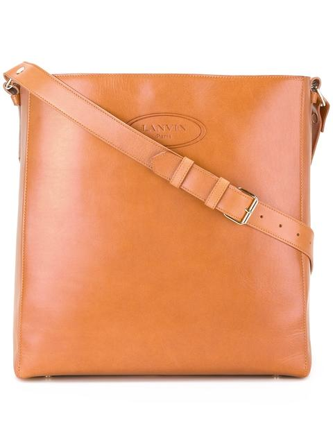 Lanvin Embossed Logo Shoulder Bag