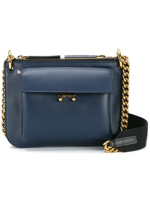Marni Medium Trunk Shoulder Bag In Blue