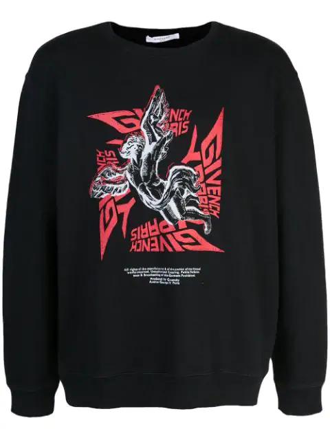 Givenchy Sweatshirt Mit Logo-Print In 001 Black