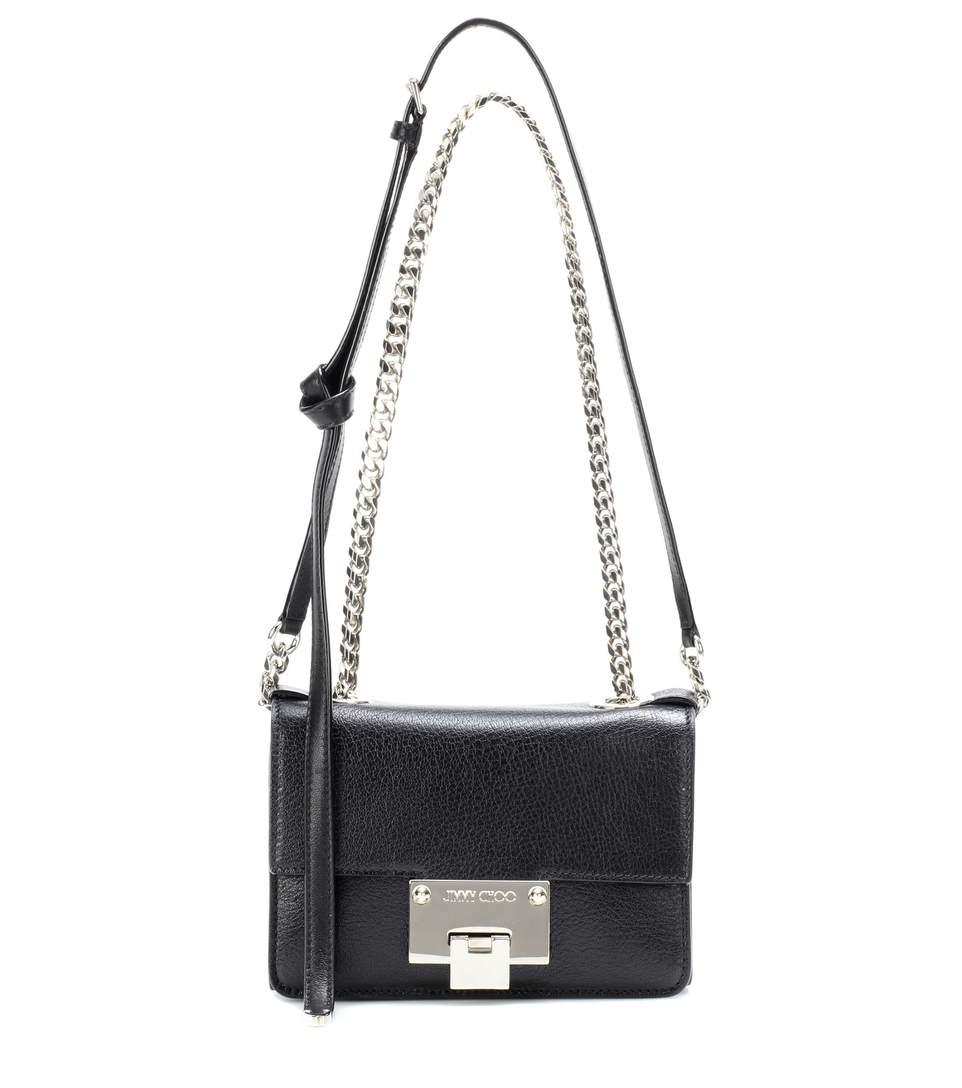Jimmy Choo Rebel Soft Mini Leather Shoulder Bag In Llack