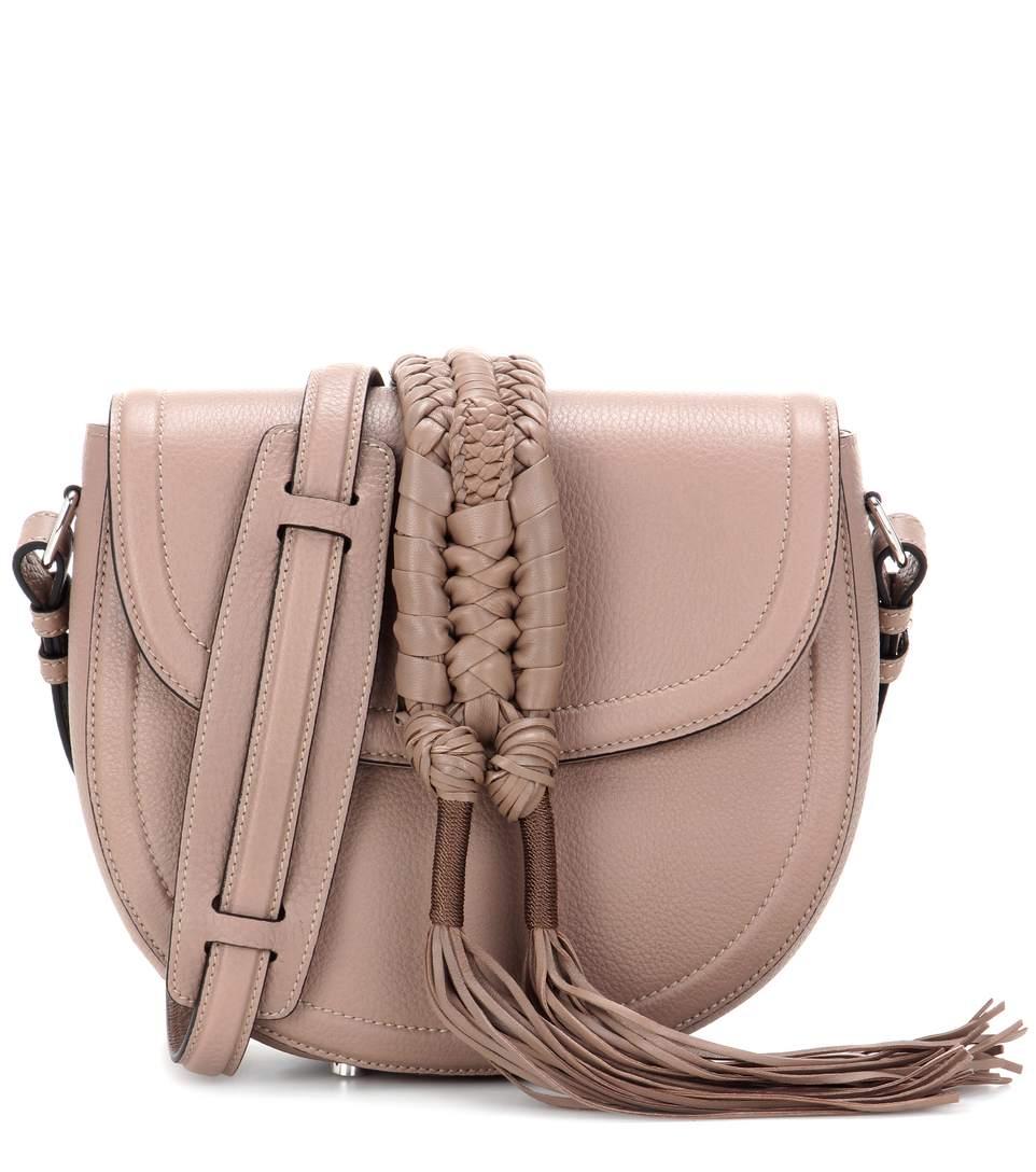 Altuzarra Ghianda Knot Saddle Leather Shoulder Bag In Brown