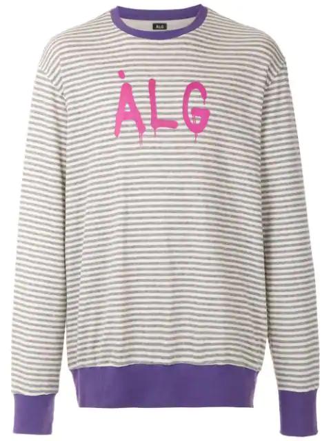 ÀLg Striped Sweatshirt - Grey