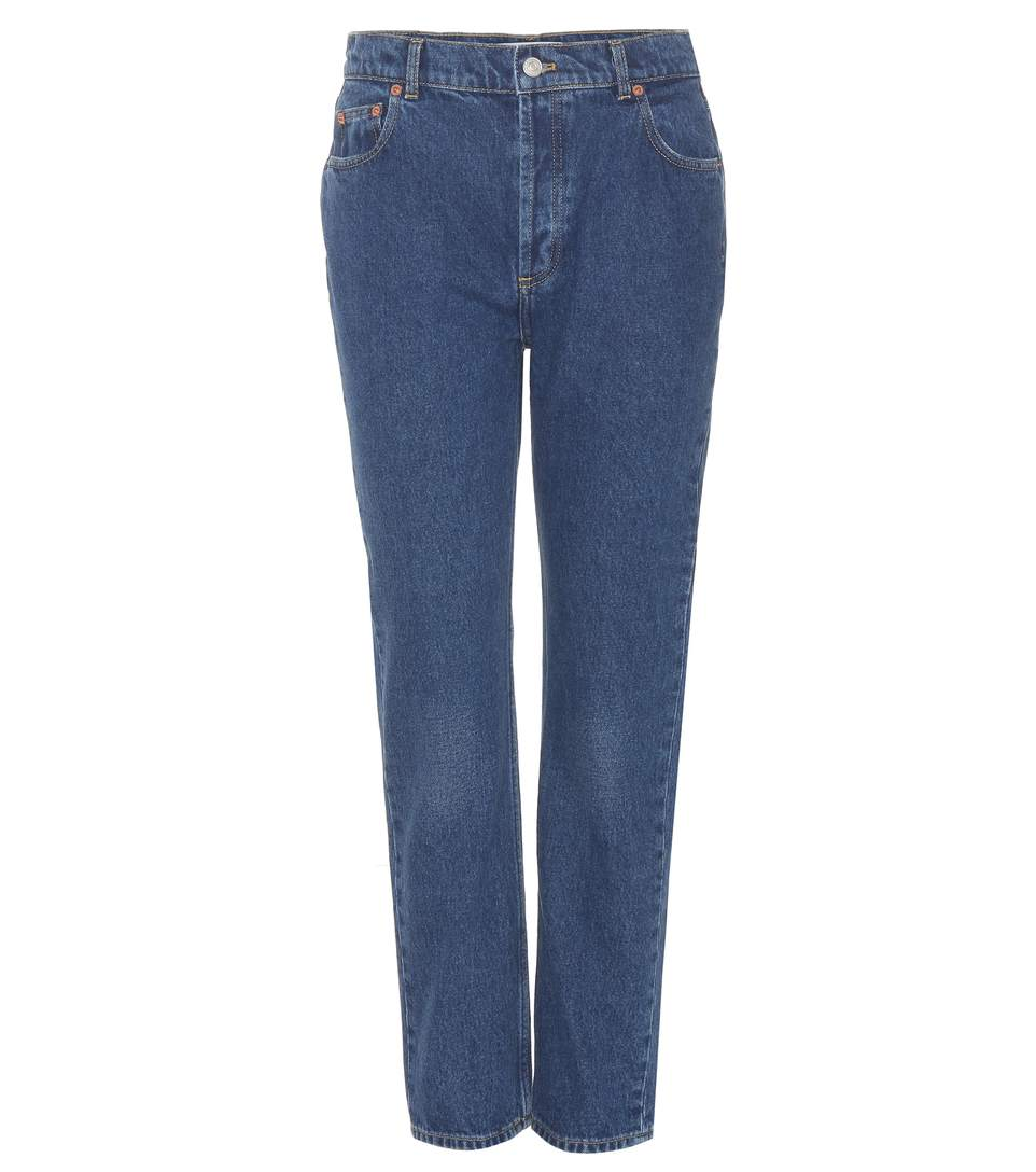 Balenciaga Cropped Jeans In Blue