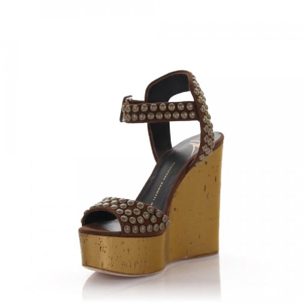 Giuseppe Zanotti Platform Sandals In Brown