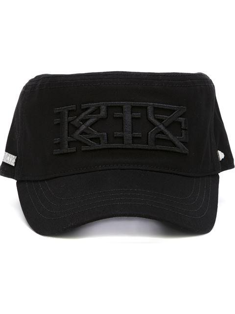 Ktz X New Era Embroidered Logo Military Cap In Black