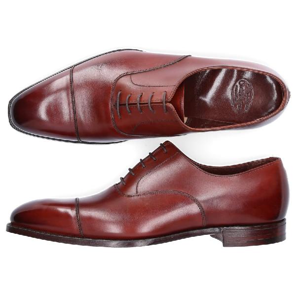 Crockett & Jones Business Shoes Oxford Calfskin Smooth Leather Brown