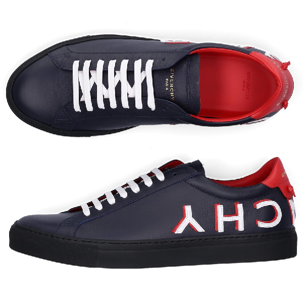 Givenchy Low-Top Sneakers Urban Street  Calfskin Logo Blue