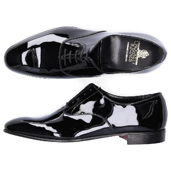 Crockett & Jones Oxford Cheam Patent Leather Black Goodyear Welted