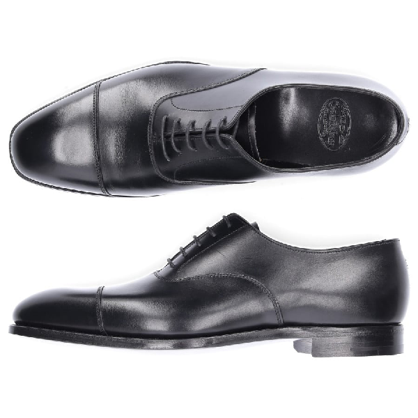 Crockett & Jones Business Shoes Oxford Smooth Leather Black
