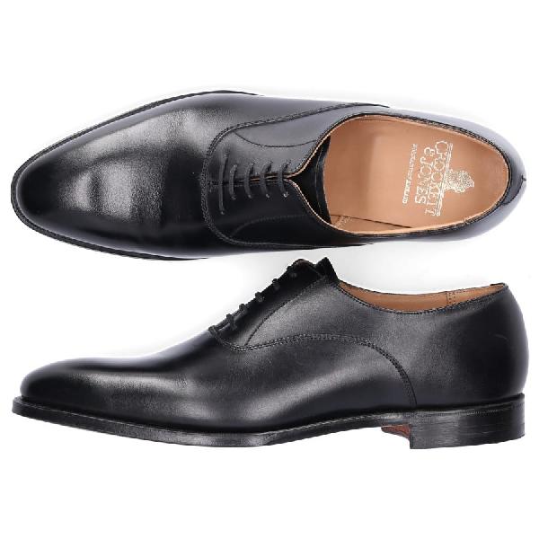 Crockett & Jones Business Shoes Oxford Wembley Calfskin Smooth Leather Black
