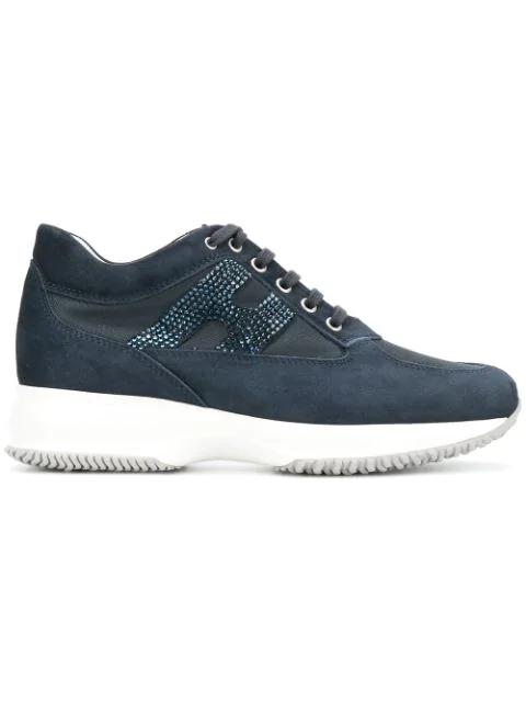 Hogan Interactive Low-top Sneakers In Blue