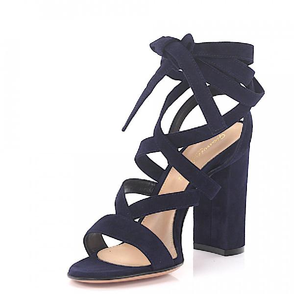 Gianvito Rossi High Heel Sandals Janis Suede Blue