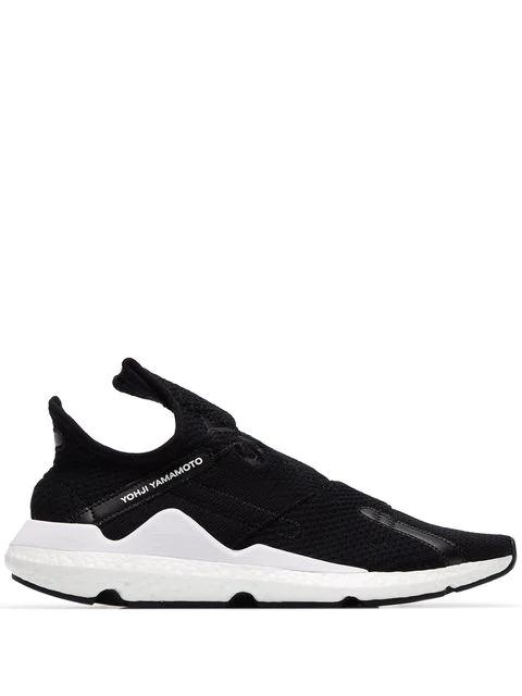 Y-3 Low-Top Sneakers Reberu  Textile Logo Black