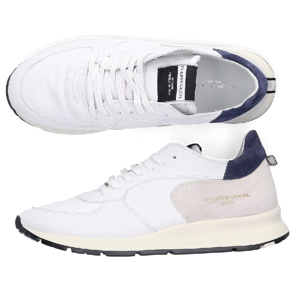 Philippe Model Low-Top Sneakers Montecarlo  Calfskin Logo Patch White